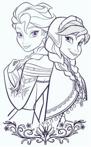Elsa Coloring Pages - Elsa and Anna Frozen Colouring Pages Free Disney Coloring Pages Colouring Pages for Kids 18p