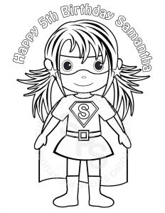 Female Superhero Coloring Pages - and Girl Superhero Coloring Page 12s