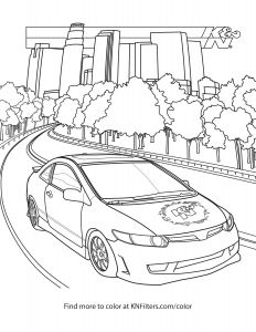 Ferris Wheel Coloring Pages - Honda Civic K&n Printable Coloring Page 17q
