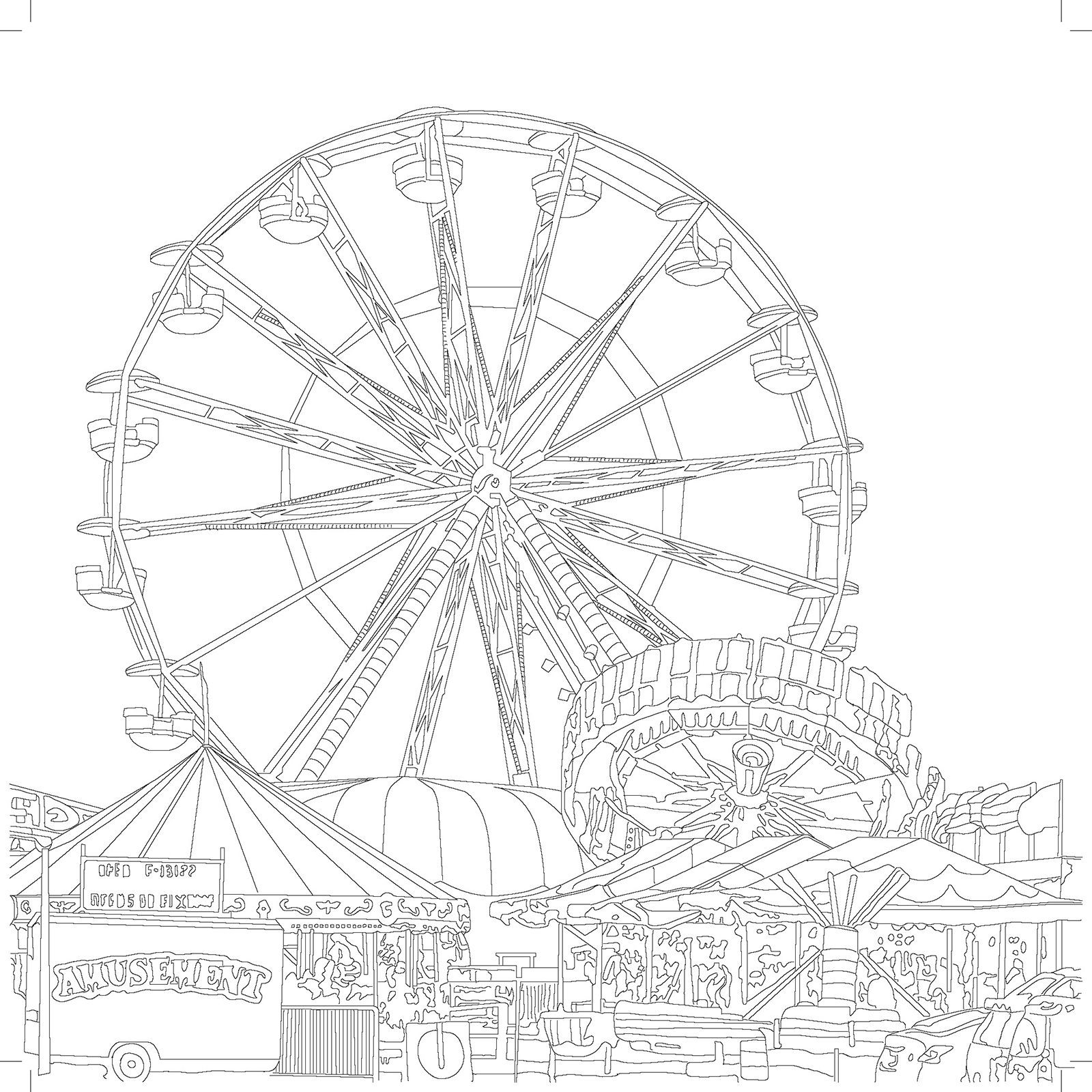 ferris wheel coloring pages Download-Ferris Wheel Coloring Pages [adinserter Block= 15-g