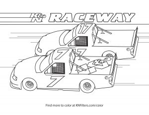Ferris Wheel Coloring Pages - Stock Trucks K&n Printable Coloring Page 9p