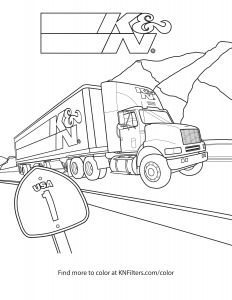 Ferris Wheel Coloring Pages - Big Rig K&n Printable Coloring Page 11i