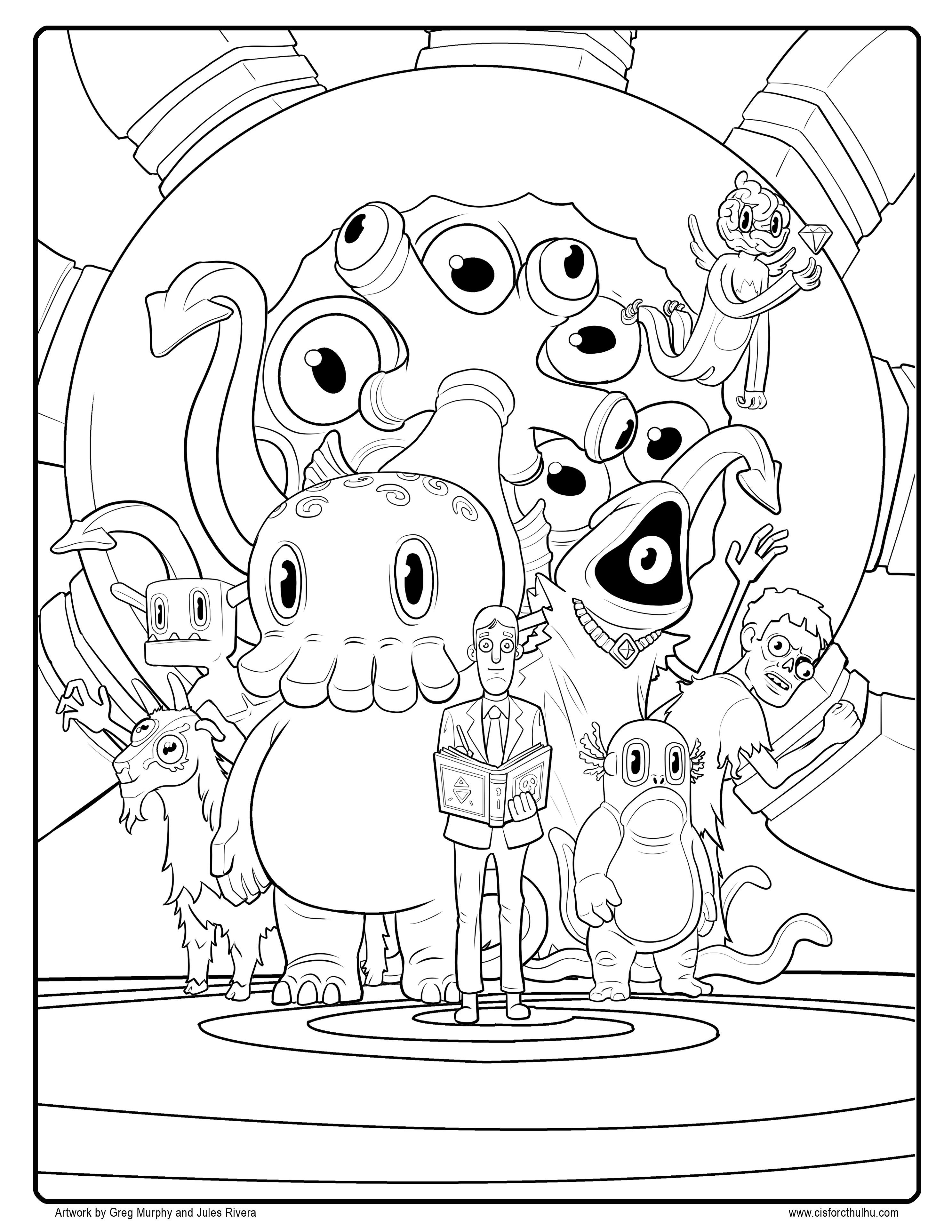 final fantasy coloring pages Collection-Free C is for Cthulhu Coloring Sheet 3-a