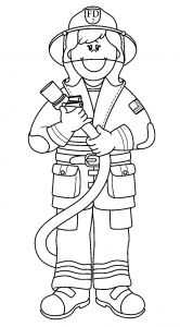 Fire Safety Coloring Pages - Printable Fireman Coloring Pages 1r