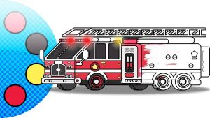 Fire Safety Coloring Pages - Fire Truck Coloring Page Learn to Draw Vehicles for Kids 1m