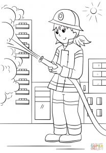 Fire Safety Coloring Pages - top Fire Fighter Coloring Pages Free Coloring Page Coloring Stunning Fire Fighting Coloring Pages 10p