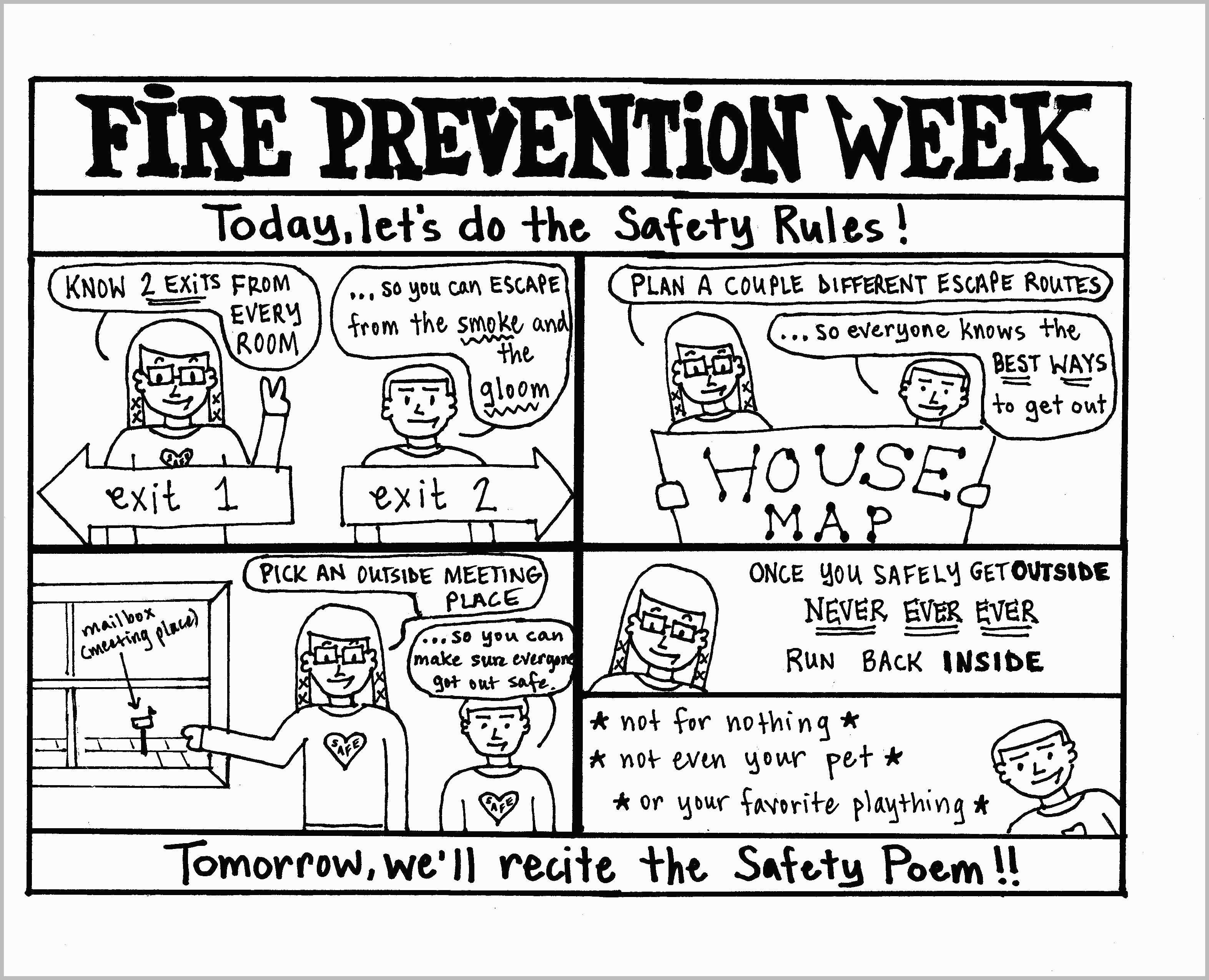24 Fire Safety Coloring Pages Gallery Coloring Sheets