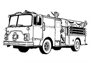 Fire Safety Coloring Pages - Free Fire Truck Coloring Pages for Kids 8k
