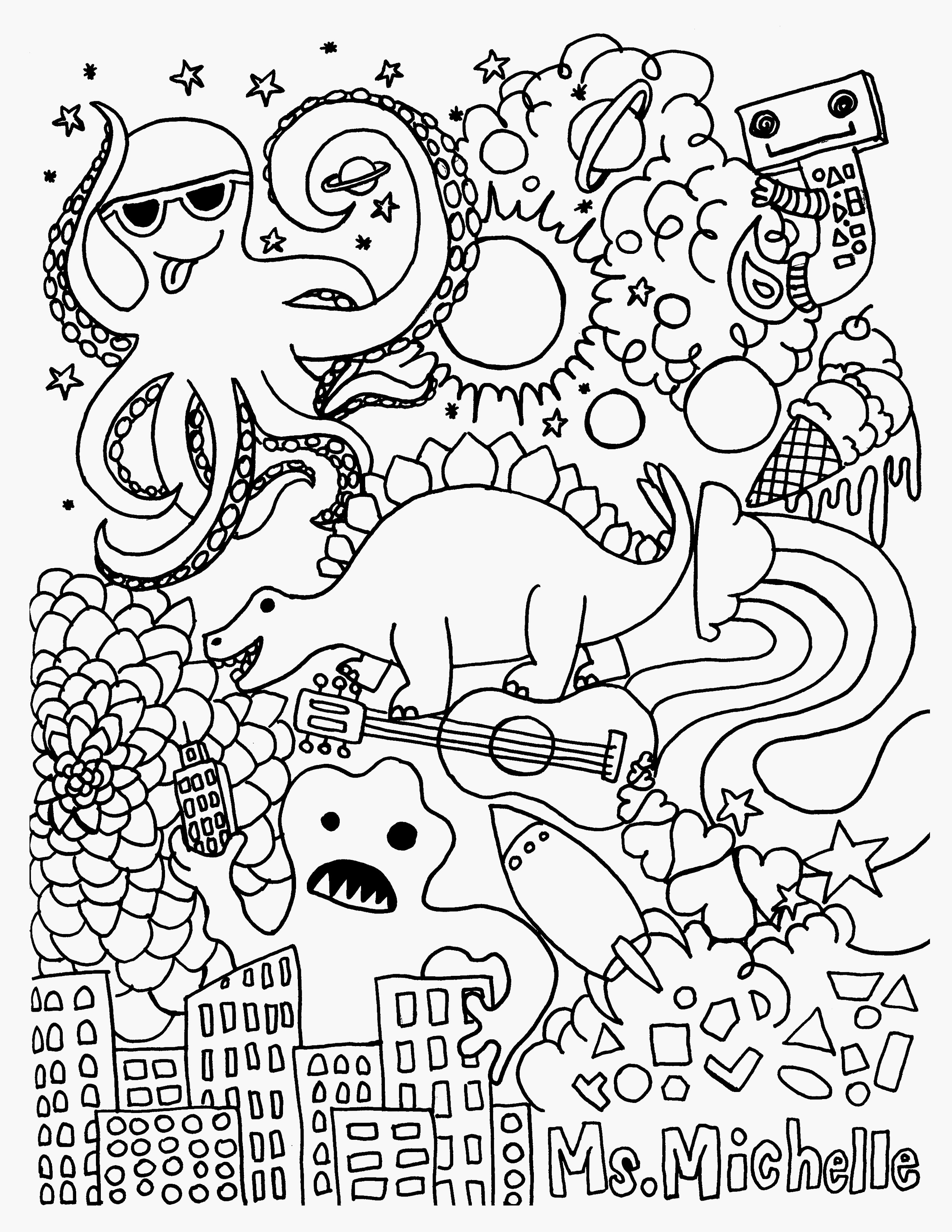 first aid coloring pages Download-Pool Coloring Pages Free Printable Coloring Pages for Adults Aliens 15-q