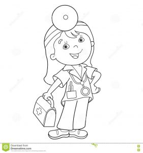 First Aid Coloring Pages - Pages Coloring Page Outline Cartoon Doctor with First Aid Kit Throughout First Aid Pages 2a