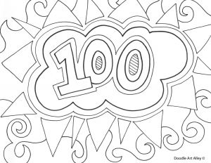 First Day Of School Coloring Pages - 1035x800 100th Day School Coloring Pages 6h