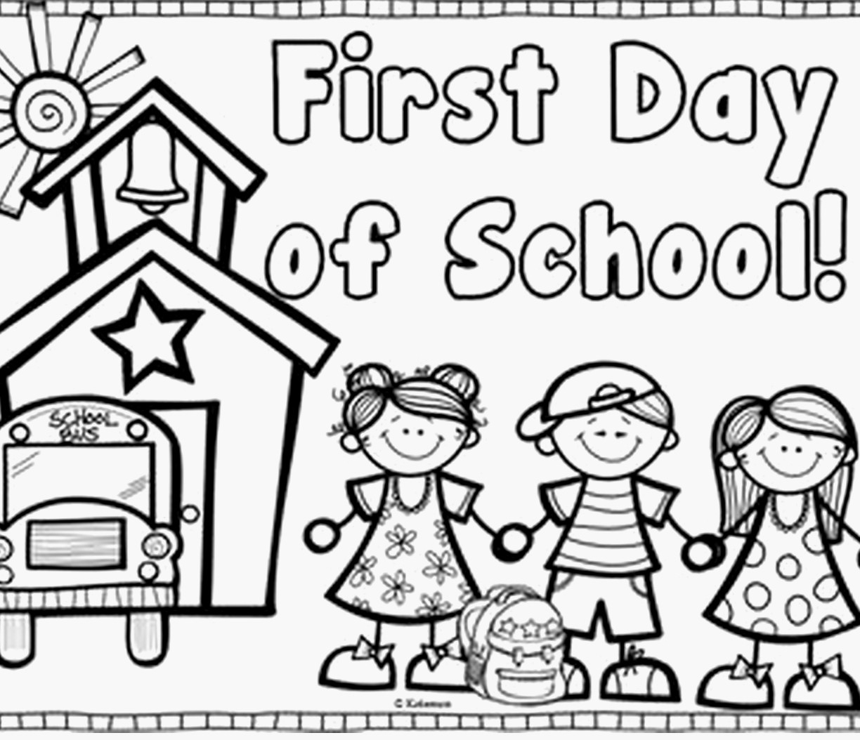 24 First Day Of School Coloring Pages for Kindergarten Gallery ...