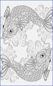 Fish Coloring Pages Pdf - Yin and Yang Pieces Symbol Fish Coloring Page for Adults 8p