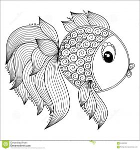 Fish Coloring Pages Pdf - Pattern for Coloring Book Cute Cartoon Fish Download From Over 46 Million High Quality Stock S Vectors Sign Up for Free today 8q