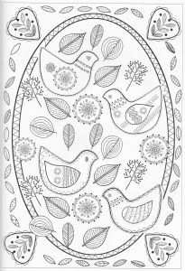 Folk Art Coloring Pages - Mandala Coloring Colouring Pages Adult Coloring Pages Tattoo Coloring Book Coloring Books Gel Pens Colored Pencils Scandinavian Embroidery 18a