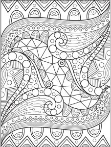 Folk Art Coloring Pages - Abstract Coloring Page On Colorish Coloring Book App for Adults by Goodsofttech 6f