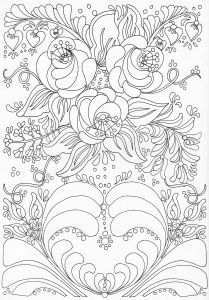 Folk Art Coloring Pages - Scandinavian Coloring Book Pg 38 16s