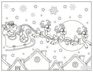 Frecklebox Coloring Pages - Here S A Beautiful Santa Coloring Page with Added Graphics for More Coloring Fun On Image for 16g