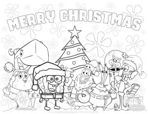 Frecklebox Coloring Pages - Spongebob Christmas Coloring Pages 20k