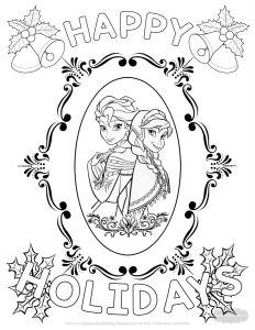 Frecklebox Coloring Pages - Frozen Christmas Coloring Page 1p