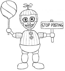 Frecklebox Coloring Pages - Cute Five Nights at Freddys Coloring Page 1q
