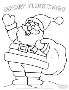 Frecklebox Coloring Pages - Here S A Beautiful Santa Coloring Page with Added Graphics for More Coloring Fun On Image for 4m
