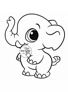 Free Bible Coloring Pages for toddlers - Coloring Page An Elephant 6n