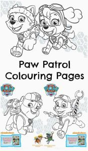 Free Coloring Pages Nickelodeon - Paw Patrol Colouring Examples 13j