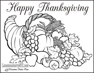 Free Cornucopia Coloring Pages - Download Cornucopia Coloring Page 7p