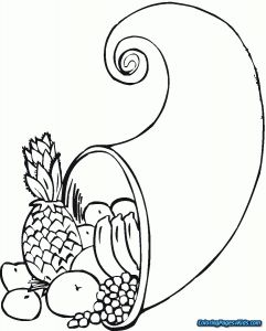 Free Cornucopia Coloring Pages - Cornucopia Coloring Pages 19 Food 5n