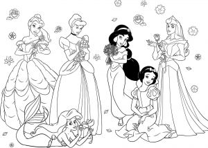 Free Disney Princess Coloring Pages - Easy Disney Princess Coloring Pages Princess Coloring Pages for Girls Free 13l