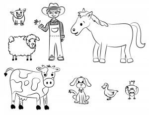 Free Farm Animals Coloring Pages - Free Printable Farm Animal Coloring Pages for Kids 13o