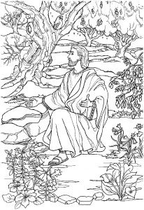 Free Jesus Coloring Pages - Printable Jesus Praying In the Garden Gethsemane Coloring Pages Joseph Coloring Pages 13k