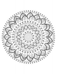 Free Mandala Coloring Pages Pdf - Mandala 1 Free Coloring Page Coloring Page for Adults Coloring for Stress Relief 5p