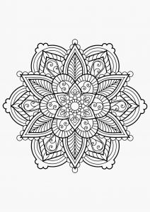 Free Mandala Coloring Pages Pdf - Peep Coloring Pages Advanced Mandala Coloring Pages Pdf Fascinating Mandala From Book 5b