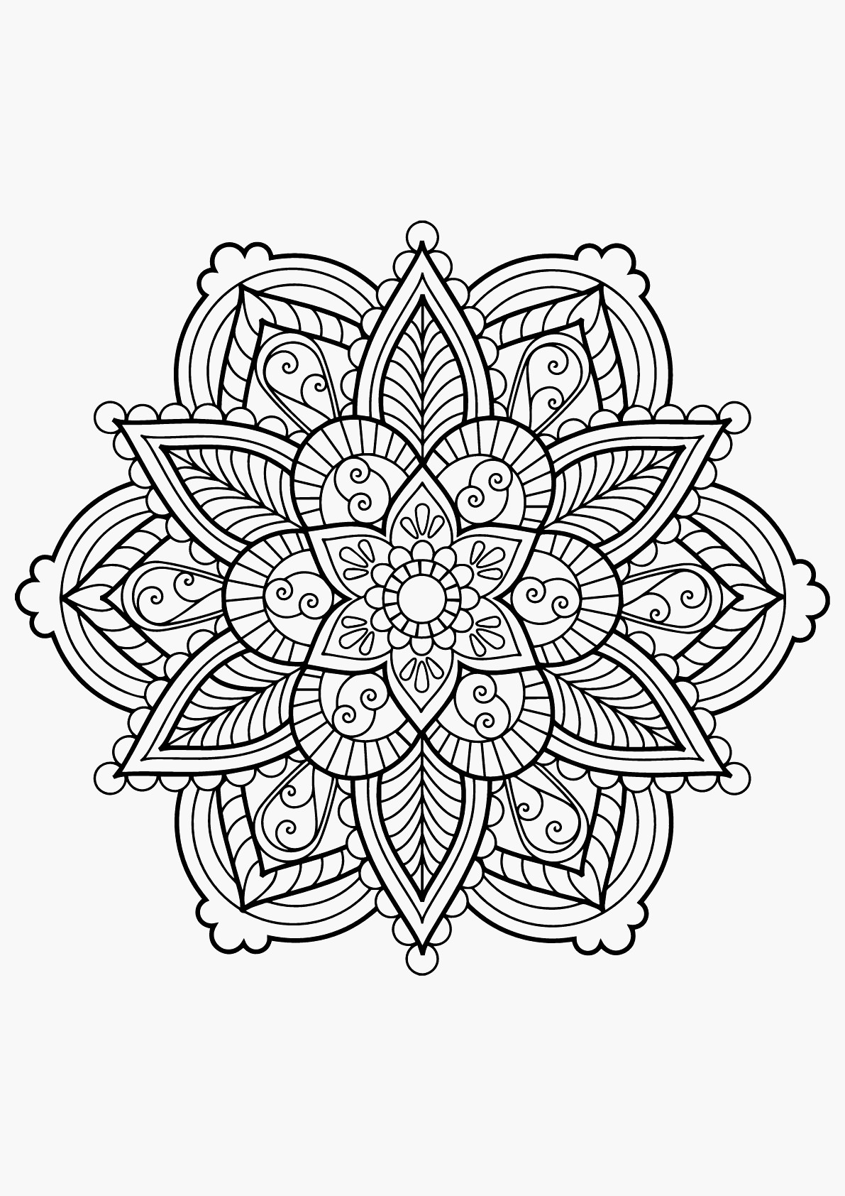 22 Free Mandala Coloring Pages Pdf Collection Coloring Sheets