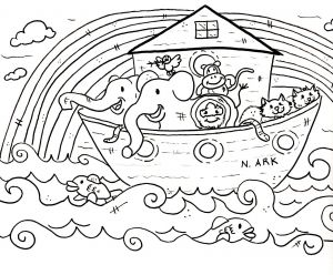 Free Noah Ark Coloring Pages - Noah and the Ark Coloring Page 8m