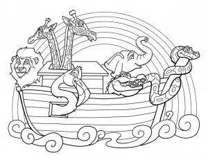 Free Noah Ark Coloring Pages - Free Noahs Ark Coloring Pages 18j
