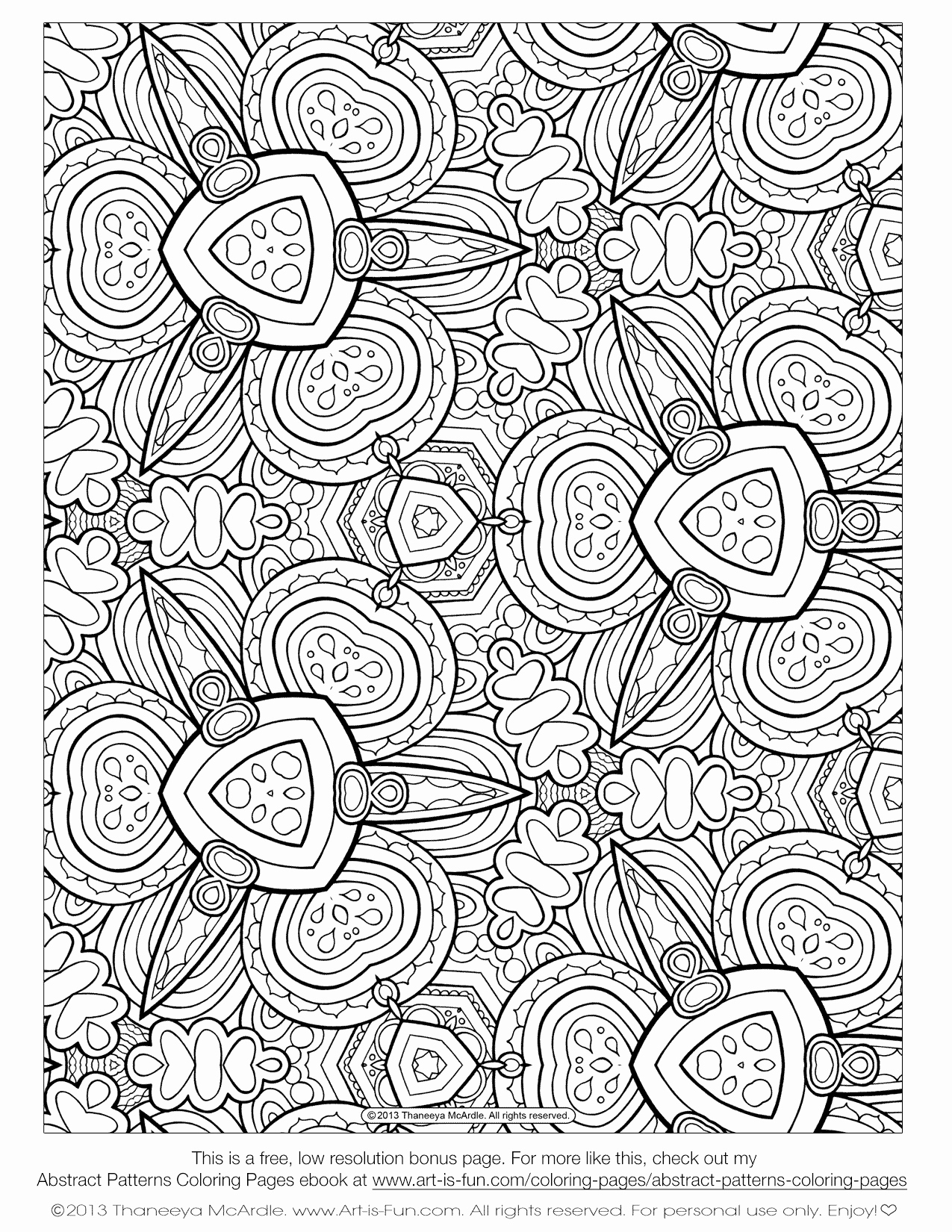 free number coloring pages Collection-Pattern Color Pages 5-f