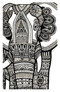 Free Printable Kaleidoscope Coloring Pages - to Print This Free Coloring Page Coloring Elephant Te Print for Free Click On the Printer Icon at the Right 17e