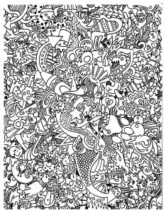 Free Printable Kaleidoscope Coloring Pages - Free Coloring Page Coloring Doodle Art Doodling 18 Very Plex Doodle to Color 12q