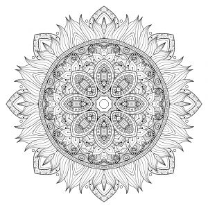 Free Printable Kaleidoscope Coloring Pages - Color Yourself Calm with these 20 Free Printable Mandala Templates Including Pages for Both Beginners 5e