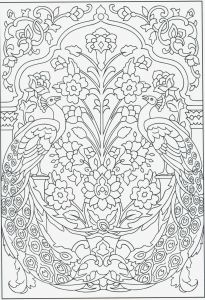 Free Printable Kaleidoscope Coloring Pages - Stained Glass Coloring Book Free Print Stained Glass Coloring Book Best Advanced Peacock Coloring Pages 3f