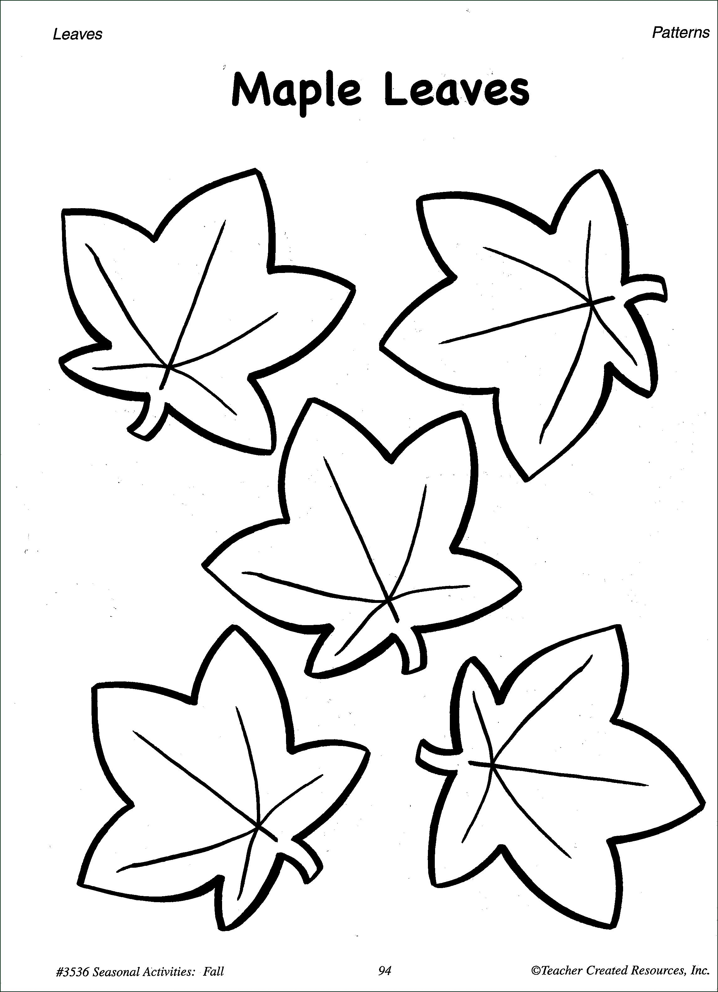 free printable leaf coloring pages 1s