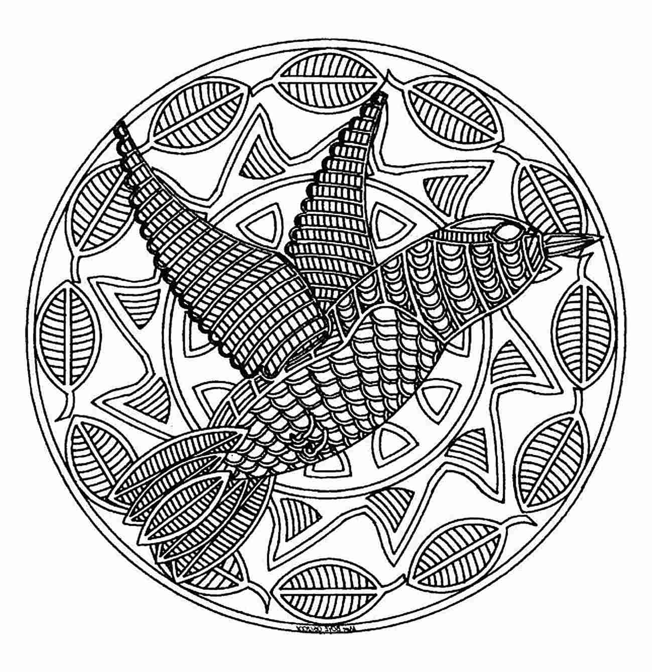 free printable mandalas coloring pages Collection-mandala to color animals free bird 579bef1c5f9b589aa 20-c