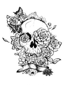 Free Printable Skull Coloring Pages - Coloring Pages for Adults Skull Download Printable Coloring Pages Sugar Skull Coloring Pages 16g