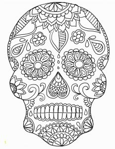 Free Printable Skull Coloring Pages - Day the Dead Skeleton Coloring Pages Best Da De Los Muertos Day the 20n