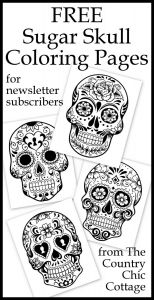 Free Printable Skull Coloring Pages - Get Free Adult Coloring Pages to at the Country Chic Cottage 16c