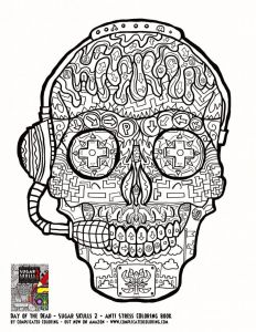 Free Printable Skull Coloring Pages - Printable Coloring for Adults Sugar Skulls for Teenagers Free Printable Sugar Skull Coloring Coloring 20i