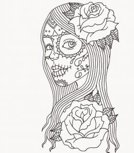 Free Printable Skull Coloring Pages - Printable Coloring Pages · Of the Dead 13n